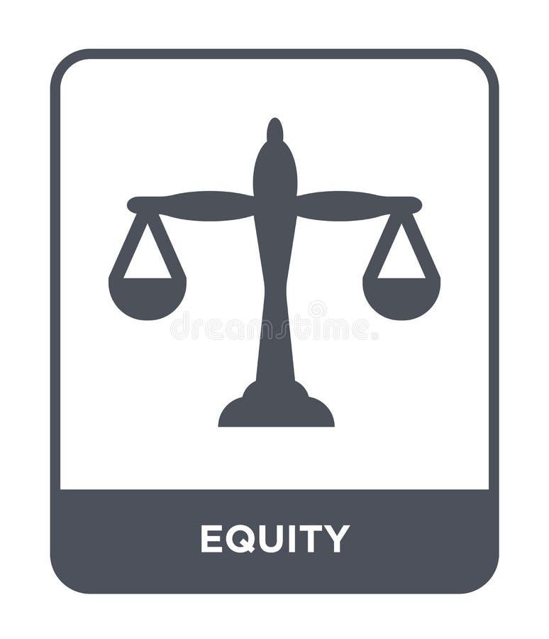 icona di equità nello stile d'avanguardia di progettazione icona di equità isolata su fondo bianco simbolo piano semplice e moder royalty illustrazione gratis
