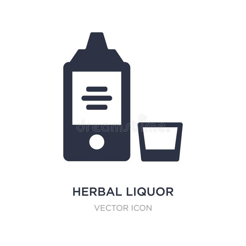 icona di erbe del liquore su fondo bianco Illustrazione semplice dell'elemento dal concetto delle bevande royalty illustrazione gratis