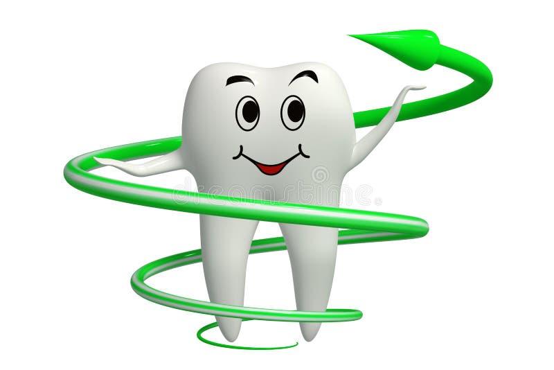Icona di erbe di protezione del dente isolata illustrazione vettoriale