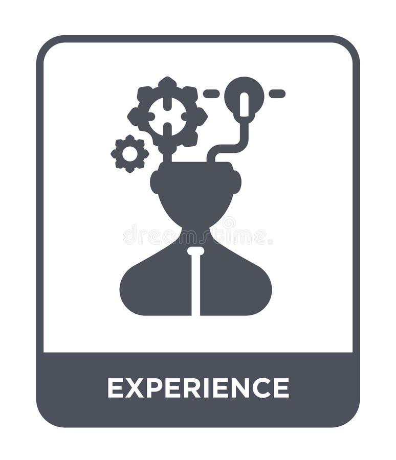 icona di esperienza nello stile d'avanguardia di progettazione icona di esperienza isolata su fondo bianco icona di vettore di es illustrazione vettoriale
