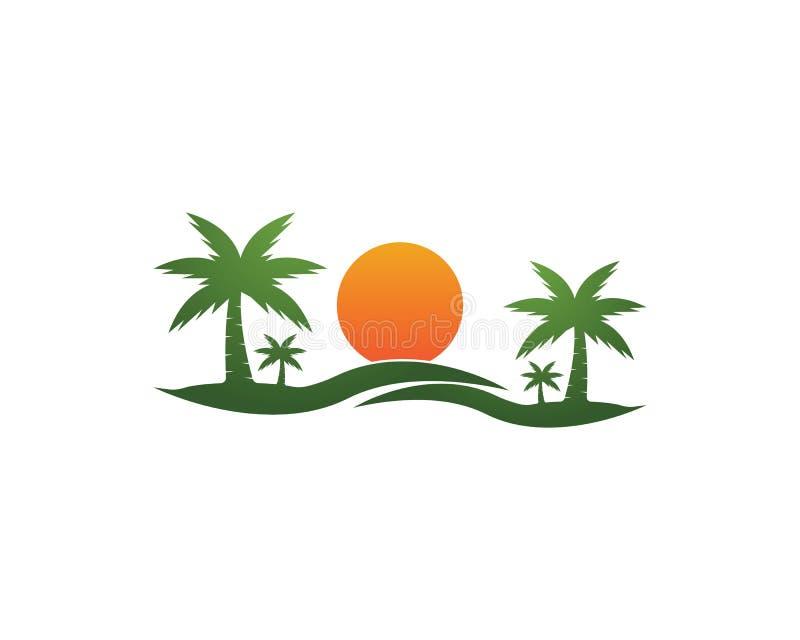 Icona di estate della palma illustrazione di stock