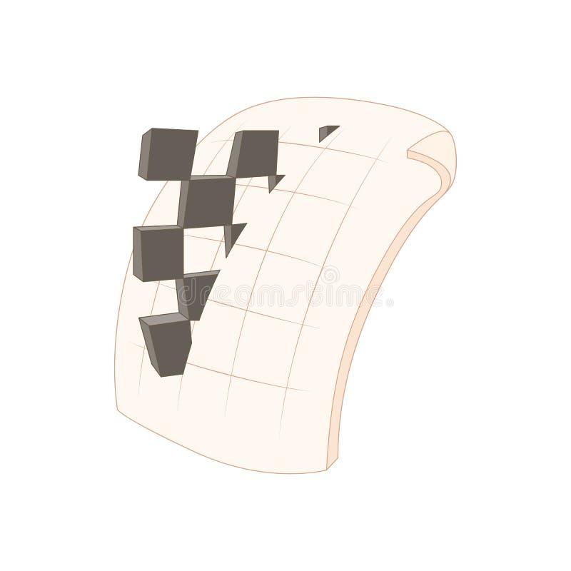Icona di estensione di file di immagini del png, stile del fumetto royalty illustrazione gratis