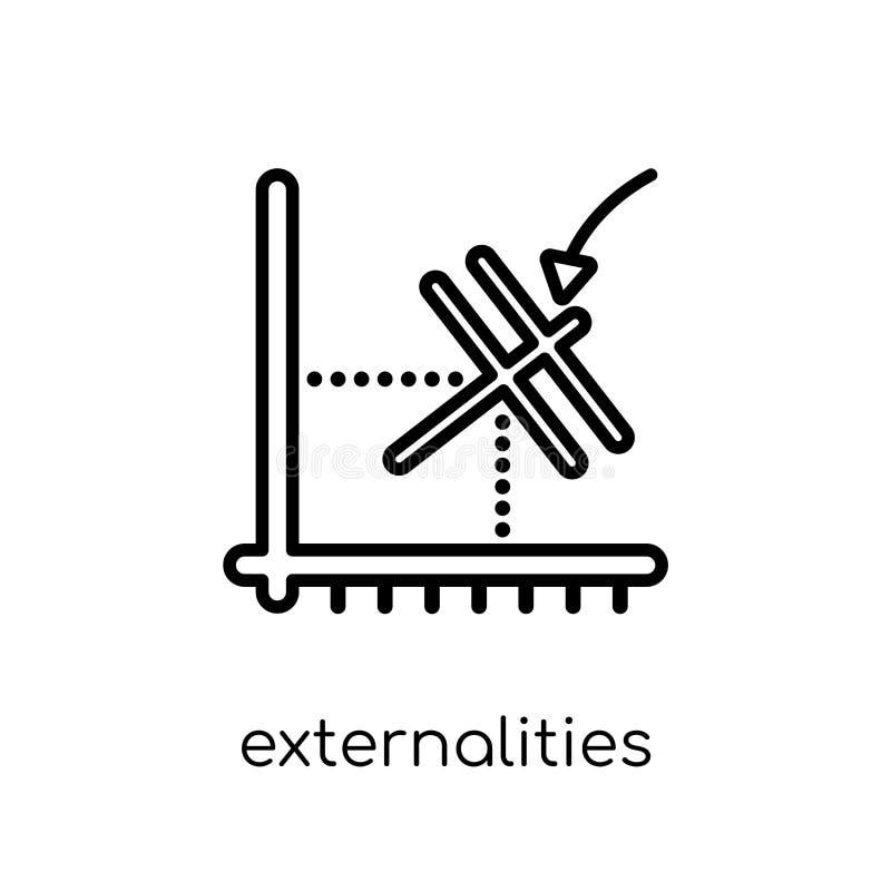 Icona di esternalità  illustrazione vettoriale