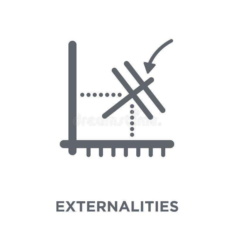 Icona di esternalità dalla raccolta di esternalità illustrazione di stock