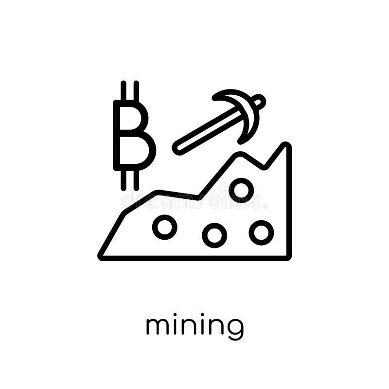 Icona di estrazione mineraria  royalty illustrazione gratis