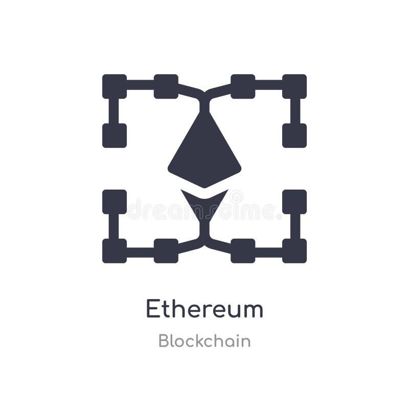 Icona di Ethereum illustrazione isolata di vettore dell'icona di ethereum dalla raccolta del blockchain editabile canti il simbol illustrazione di stock