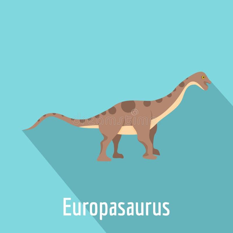Icona di Europasaurus, stile piano royalty illustrazione gratis