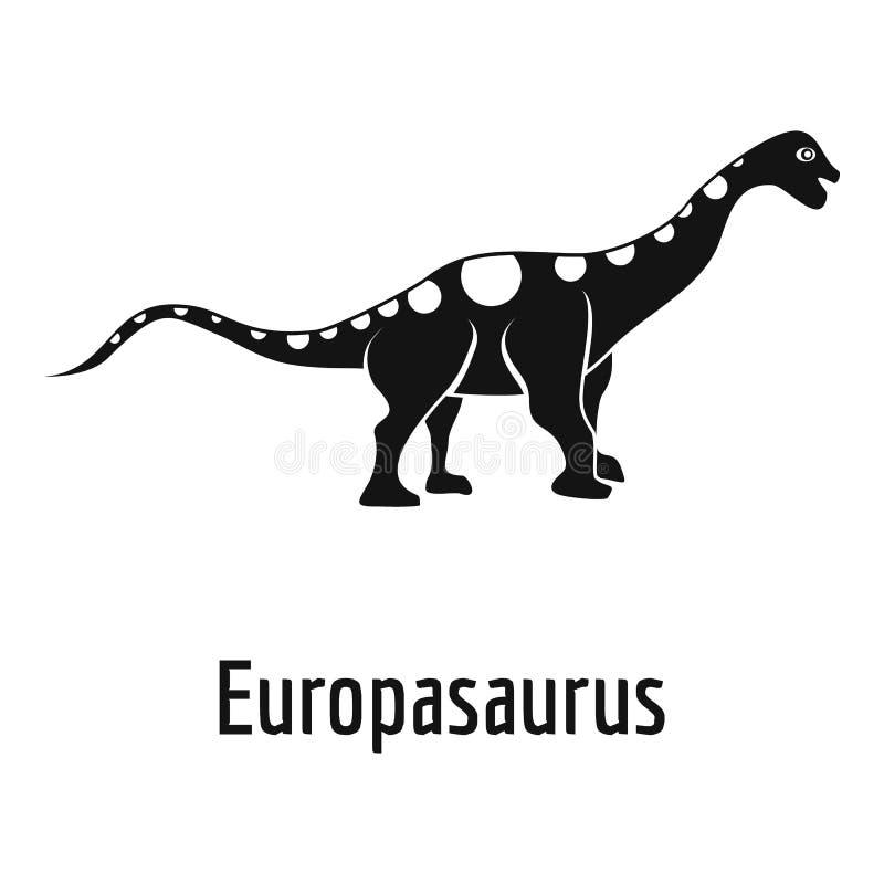 Icona di Europasaurus, stile semplice illustrazione di stock