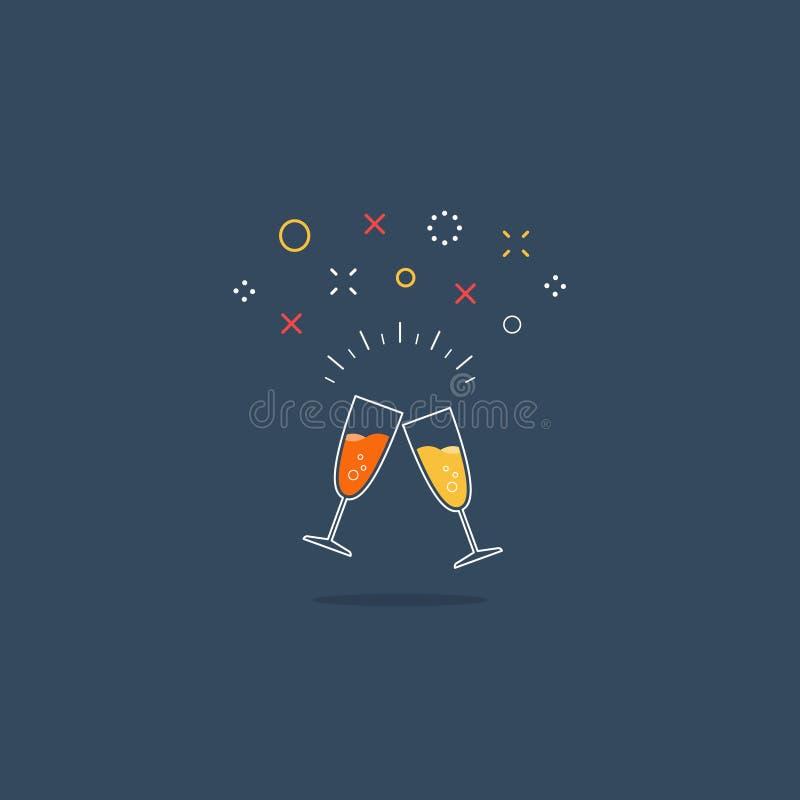 Icona di evento di celebrazione e del partito illustrazione di stock