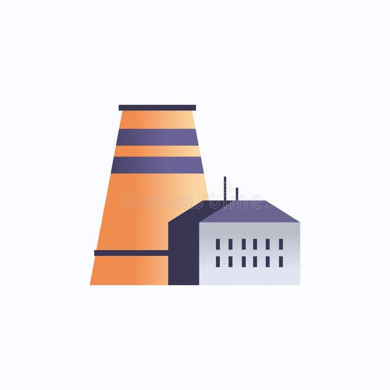 Icona di fabbrica impianto industriale con tubi e ciminiere energia industria petrolifera royalty illustrazione gratis