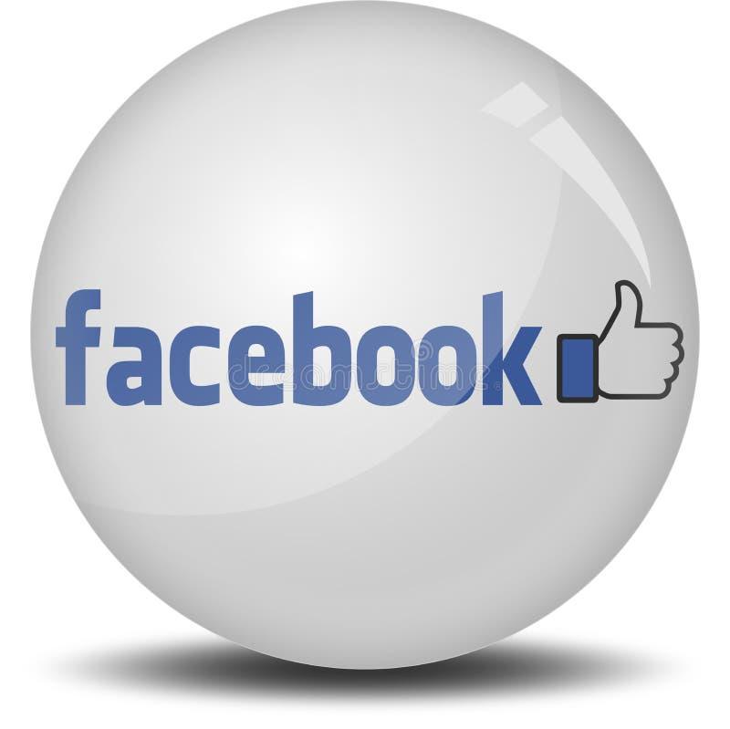 Icona di Facebook 3D illustrazione di stock