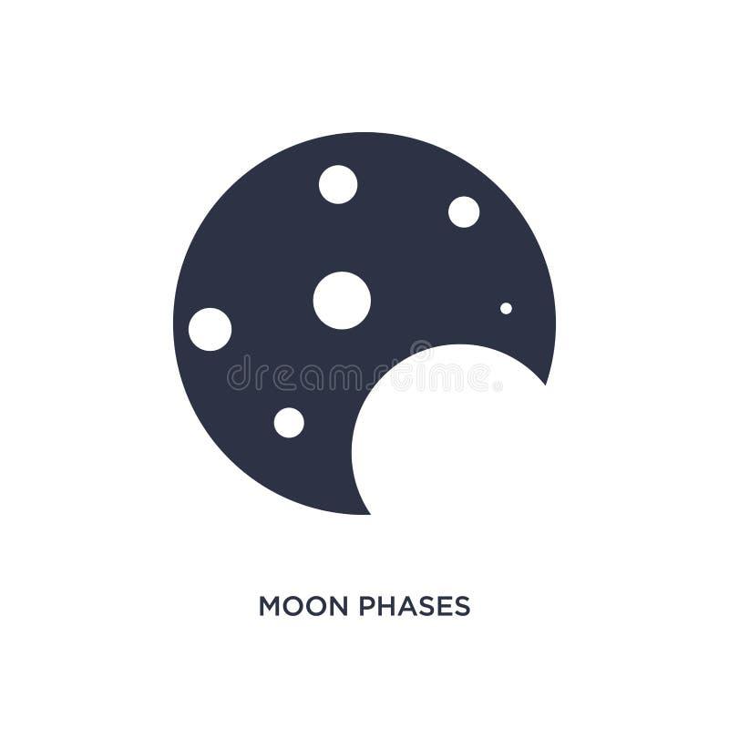 icona di fasi lunari su fondo bianco Illustrazione semplice dell'elemento dal concetto di meteorologia illustrazione di stock