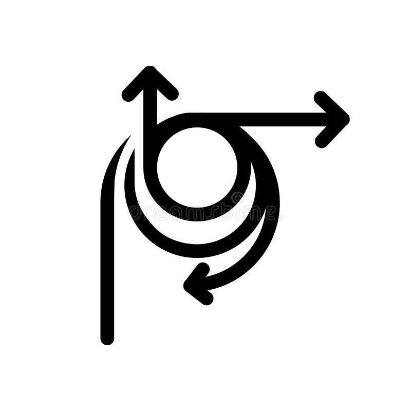 Icona di flessibilità, illustrazione di vettore illustrazione vettoriale