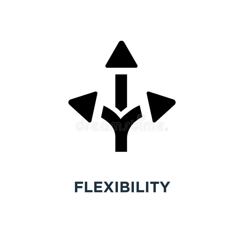 Icona di flessibilità progettazione di simbolo di concetto di flessibilità, illu di vettore illustrazione di stock