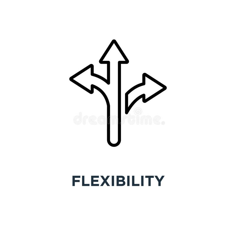 Icona di flessibilità progettazione di simbolo di concetto di flessibilità, illu di vettore royalty illustrazione gratis