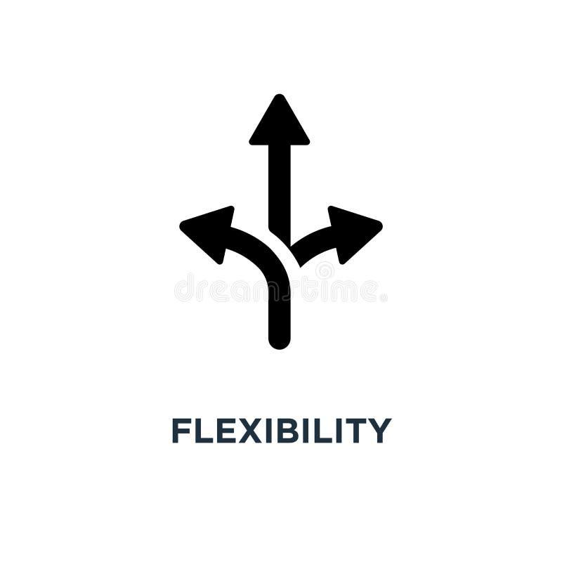 Icona di flessibilità progettazione di simbolo di concetto di flessibilità, illu di vettore illustrazione vettoriale