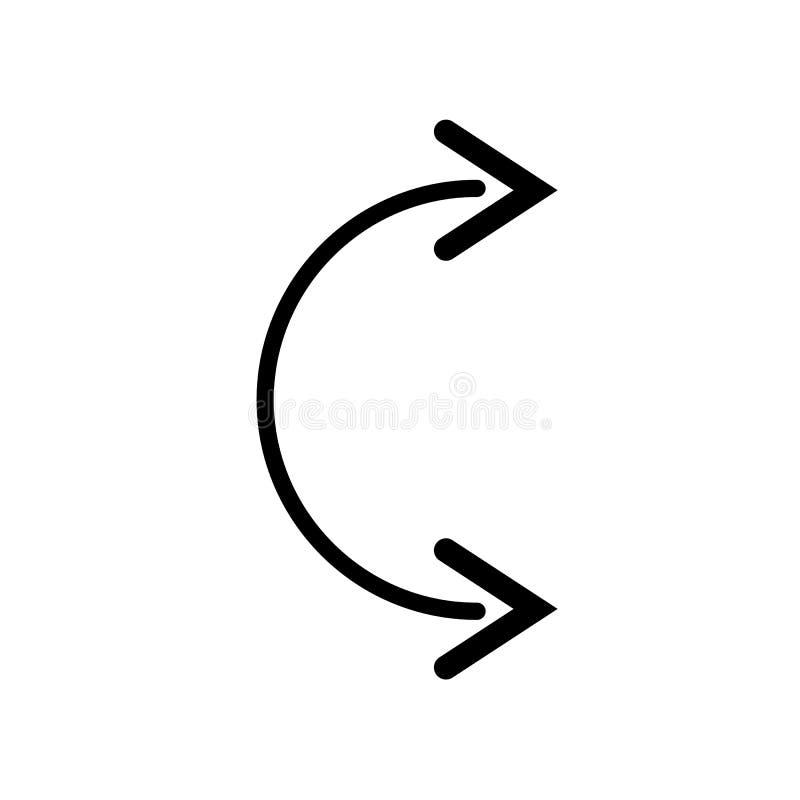 Icona di flessibilità su fondo bianco, illustrazione eps10 royalty illustrazione gratis