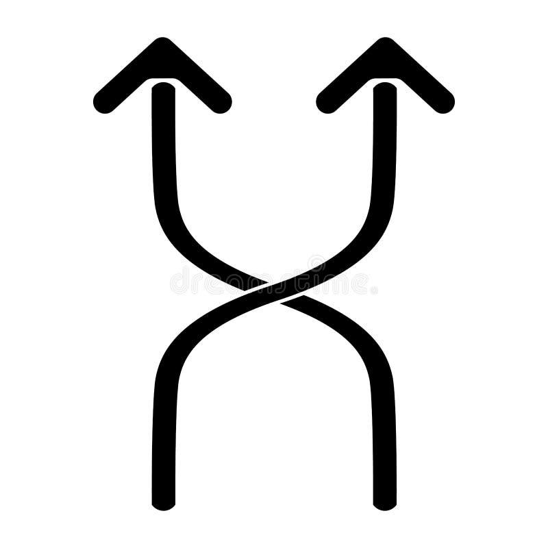 Icona di flessibilità su fondo bianco, illustrazione eps10 illustrazione di stock