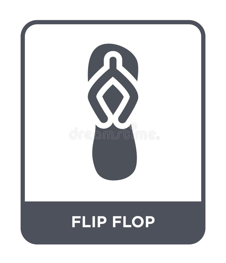 icona di Flip-flop nello stile d'avanguardia di progettazione icona di Flip-flop isolata su fondo bianco piano semplice e moderno illustrazione di stock
