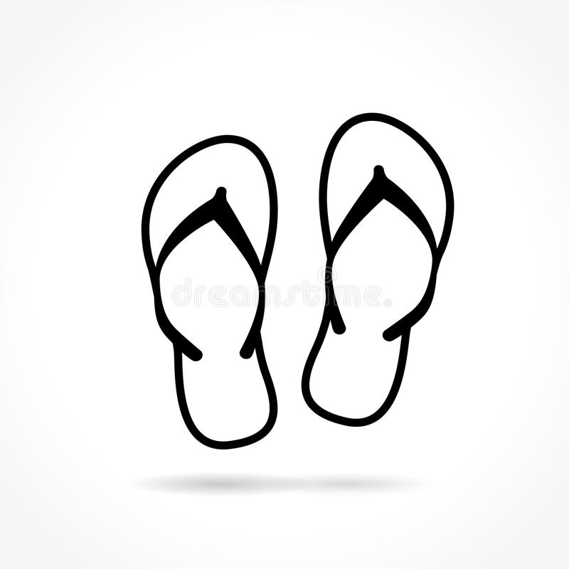 Icona di Flip-flop su fondo bianco illustrazione di stock