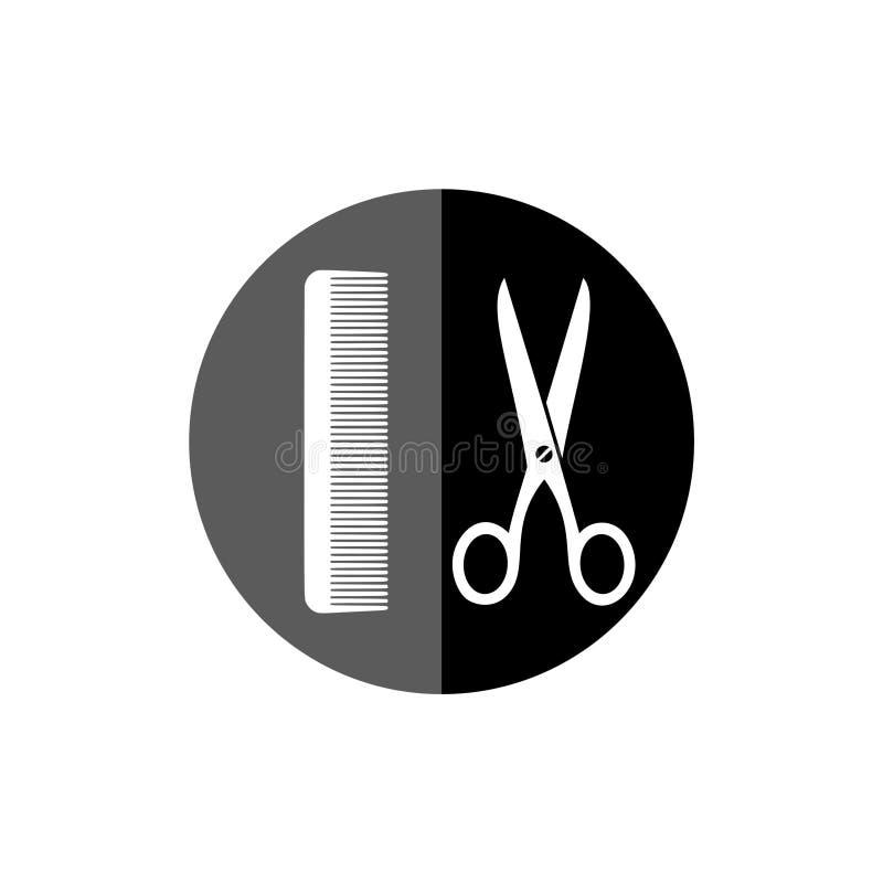 Icona di forbici e del pettine royalty illustrazione gratis