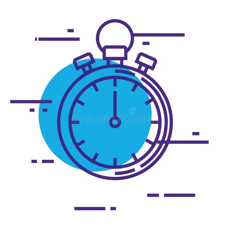 Icona di forma fisica del temporizzatore del cronometro royalty illustrazione gratis