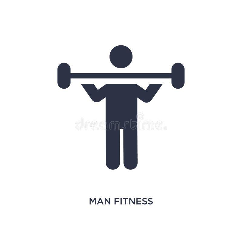 icona di forma fisica dell'uomo su fondo bianco Illustrazione semplice dell'elemento dal concetto di comportamento illustrazione di stock