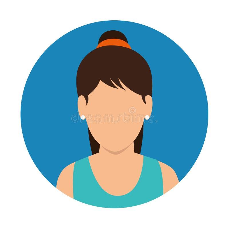 Icona di forma fisica della donna del carattere royalty illustrazione gratis