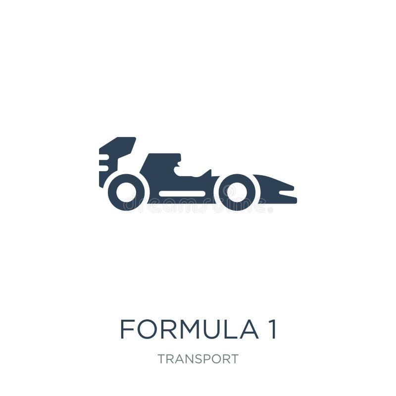 icona di formula 1 nello stile d'avanguardia di progettazione icona di formula 1 isolata su fondo bianco piano semplice e moderno illustrazione di stock