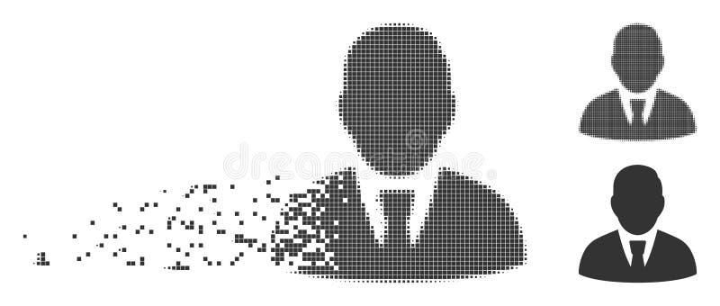 Icona di Fragmented Pixel Halftone del responsabile royalty illustrazione gratis