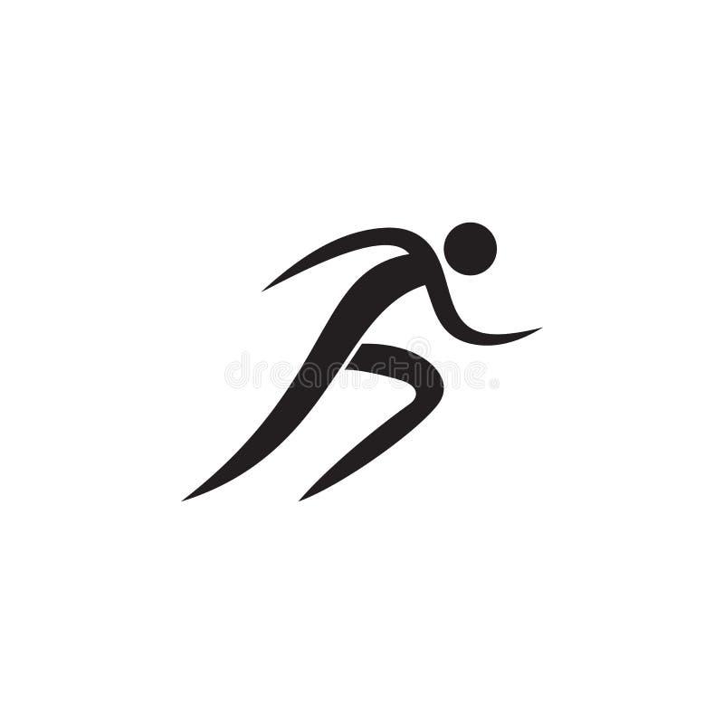 Icona di funzionamento Elementi dell'icona dello sportivo Icona premio di progettazione grafica di qualità Segni ed icona per i s illustrazione vettoriale