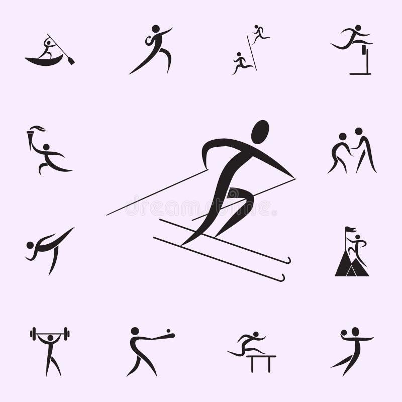 Icona di funzionamento Elementi dell'icona dello sportivo Icona premio di progettazione grafica di qualit? Segni ed icona per i s royalty illustrazione gratis