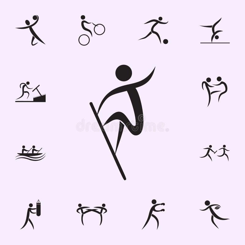 Icona di funzionamento Elementi dell'icona dello sportivo Icona premio di progettazione grafica di qualit? Segni ed icona per i s illustrazione vettoriale