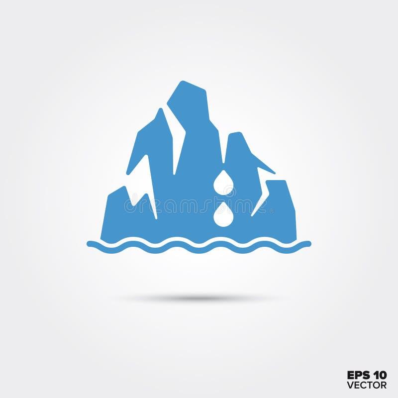Icona di fusione dell'iceberg Simbolo di riscaldamento globale royalty illustrazione gratis