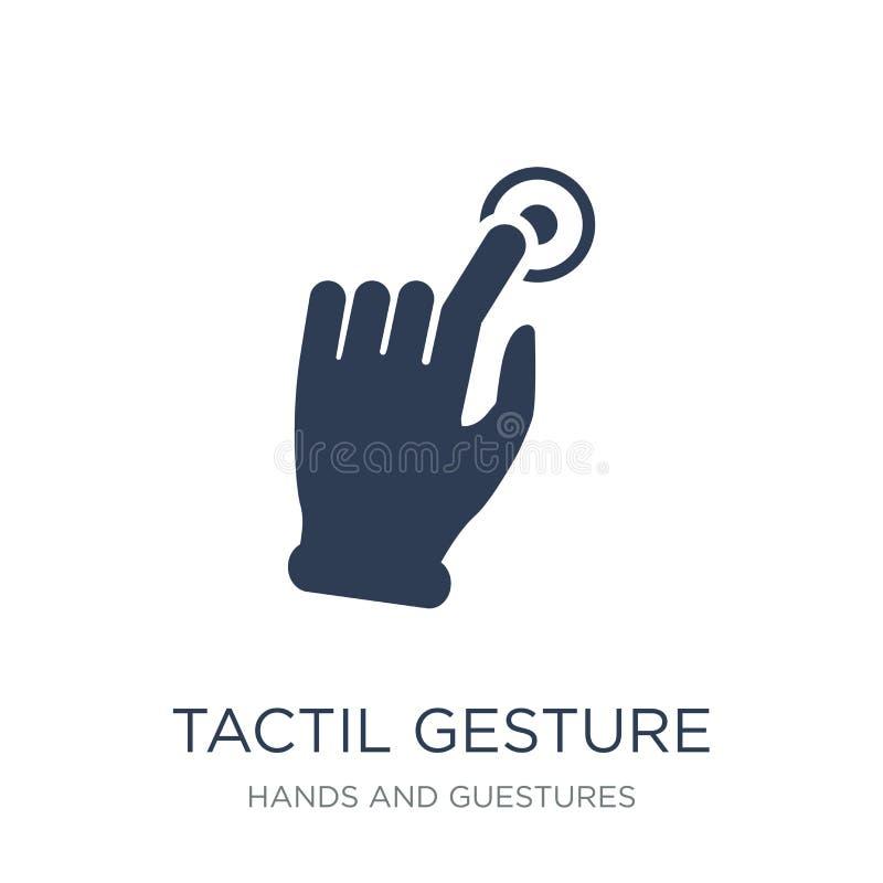 Icona di gesto di Tactil Icona piana d'avanguardia di gesto di Tactil di vettore su w illustrazione di stock