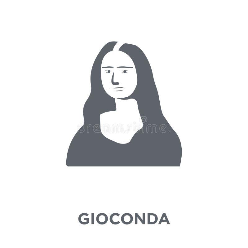 Icona di Gioconda dalla raccolta del museo illustrazione vettoriale