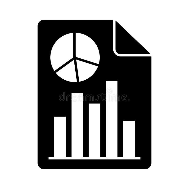 Icona di glifi del grafico del documento royalty illustrazione gratis