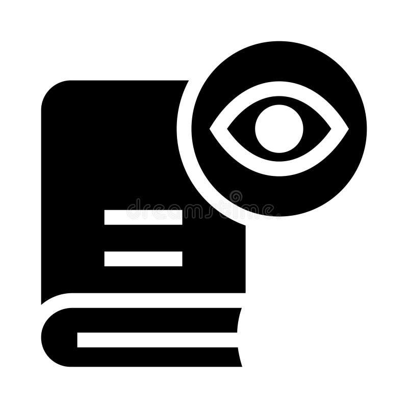 Icona di glifi di vista del libro illustrazione vettoriale