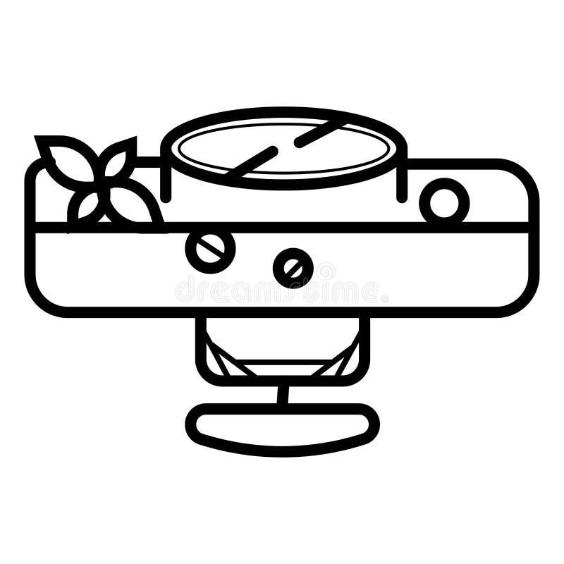 Icona di glifo di comodino illustrazione di stock