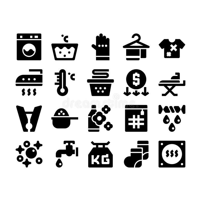 Icona di glifo della lavanderia royalty illustrazione gratis