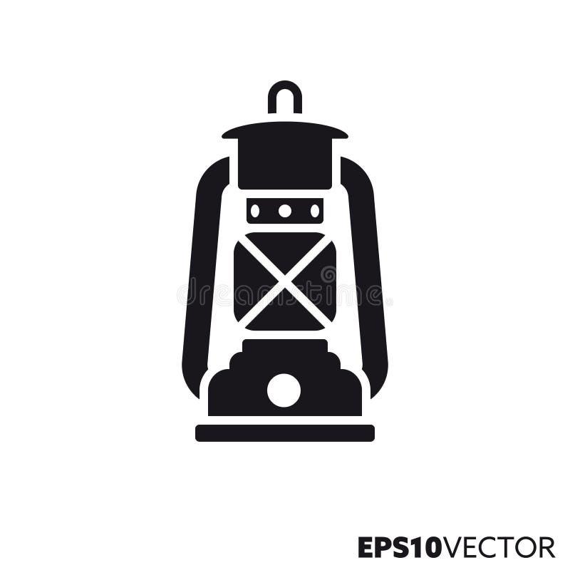 Icona di glifo di vettore della lanterna di uragano illustrazione di stock