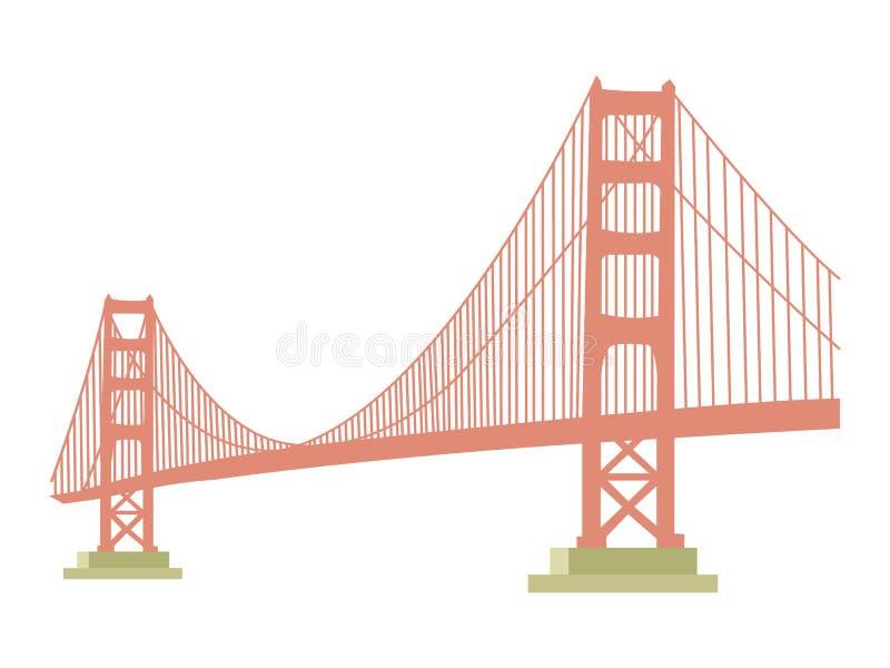 Icona di golden gate bridge illustrazione di stock