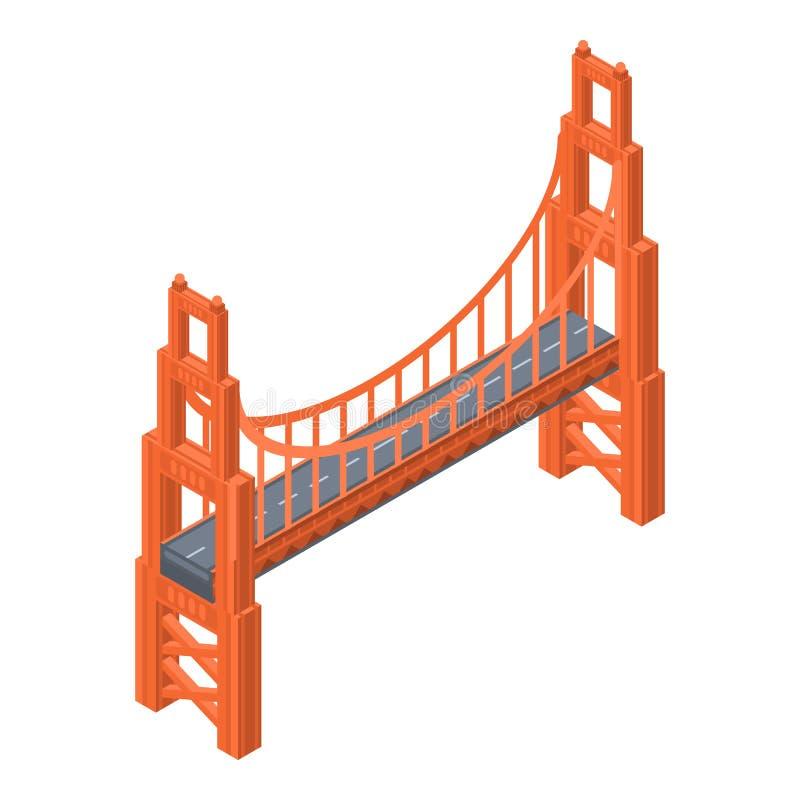 Icona di golden gate bridge, stile isometrico royalty illustrazione gratis