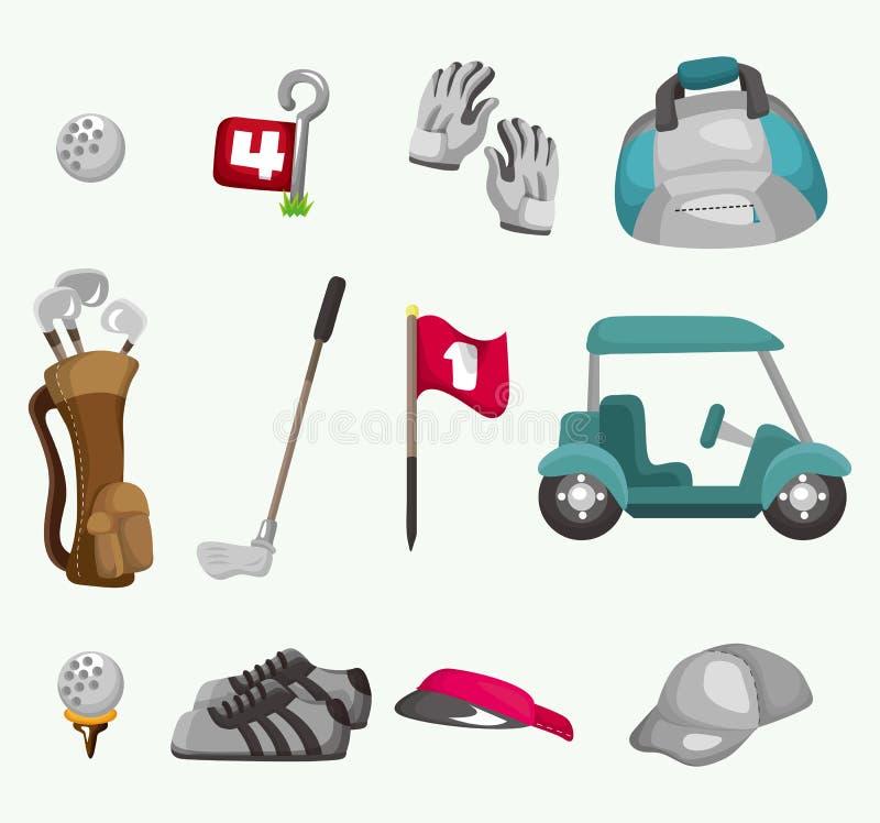 Icona di golf del fumetto illustrazione vettoriale