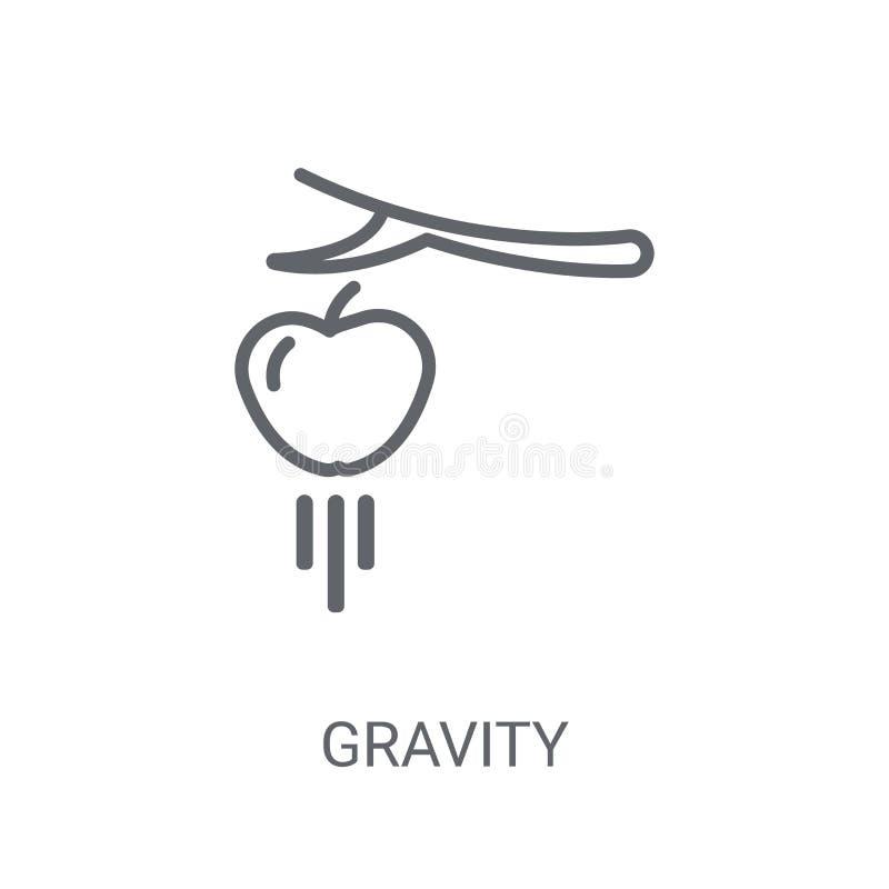 Icona di gravità Concetto d'avanguardia di logo di gravità su fondo bianco franco illustrazione vettoriale
