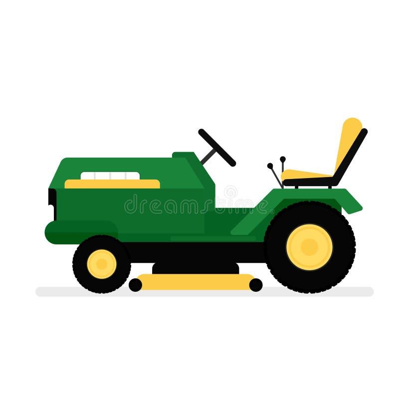 Icona di guida della falciatrice da giardino illustrazione vettoriale