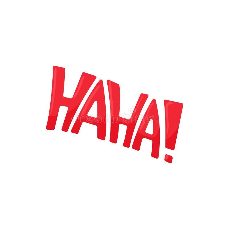 Icona di Haha nello stile del fumetto illustrazione di stock