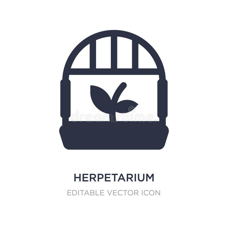 icona di herpetarium su fondo bianco Illustrazione semplice dell'elemento dal concetto degli animali royalty illustrazione gratis