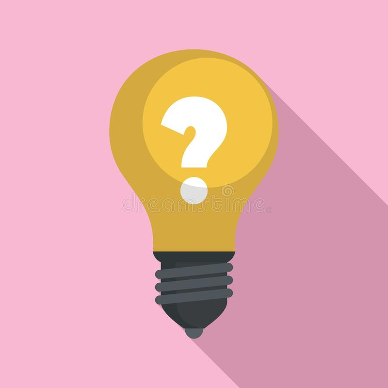Icona di idea della lampadina, stile piano royalty illustrazione gratis