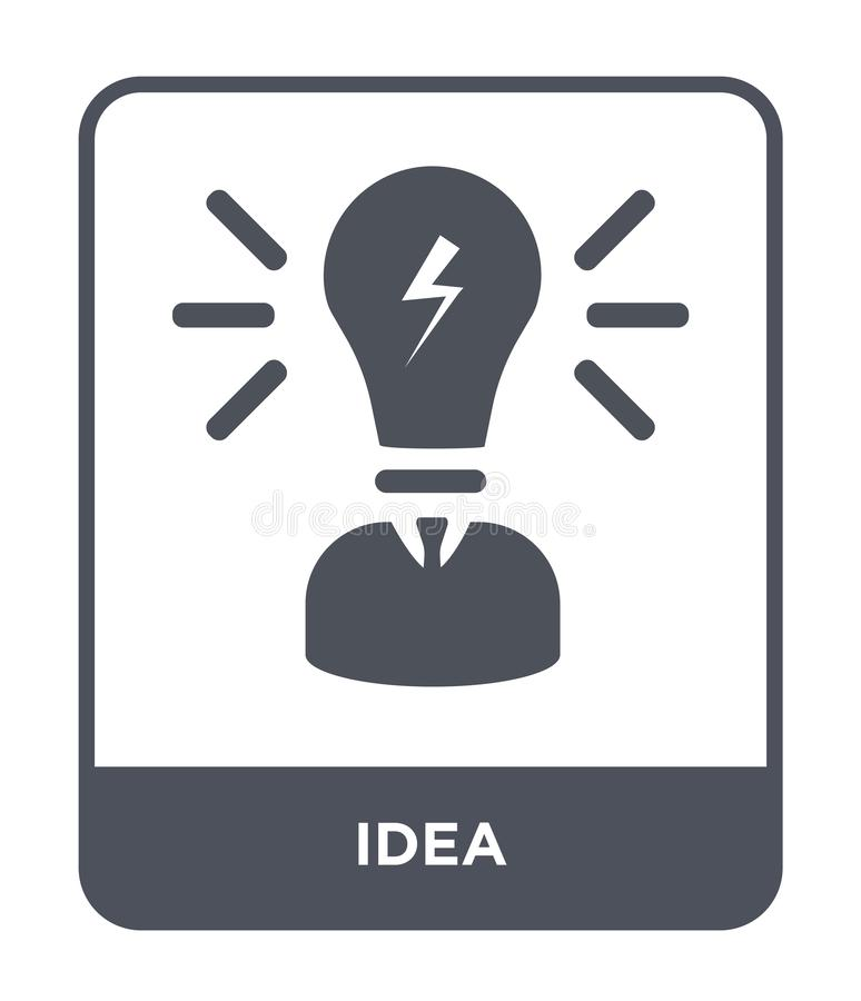 icona di idea nello stile d'avanguardia di progettazione icona di idea isolata su fondo bianco simbolo piano semplice e moderno d illustrazione vettoriale